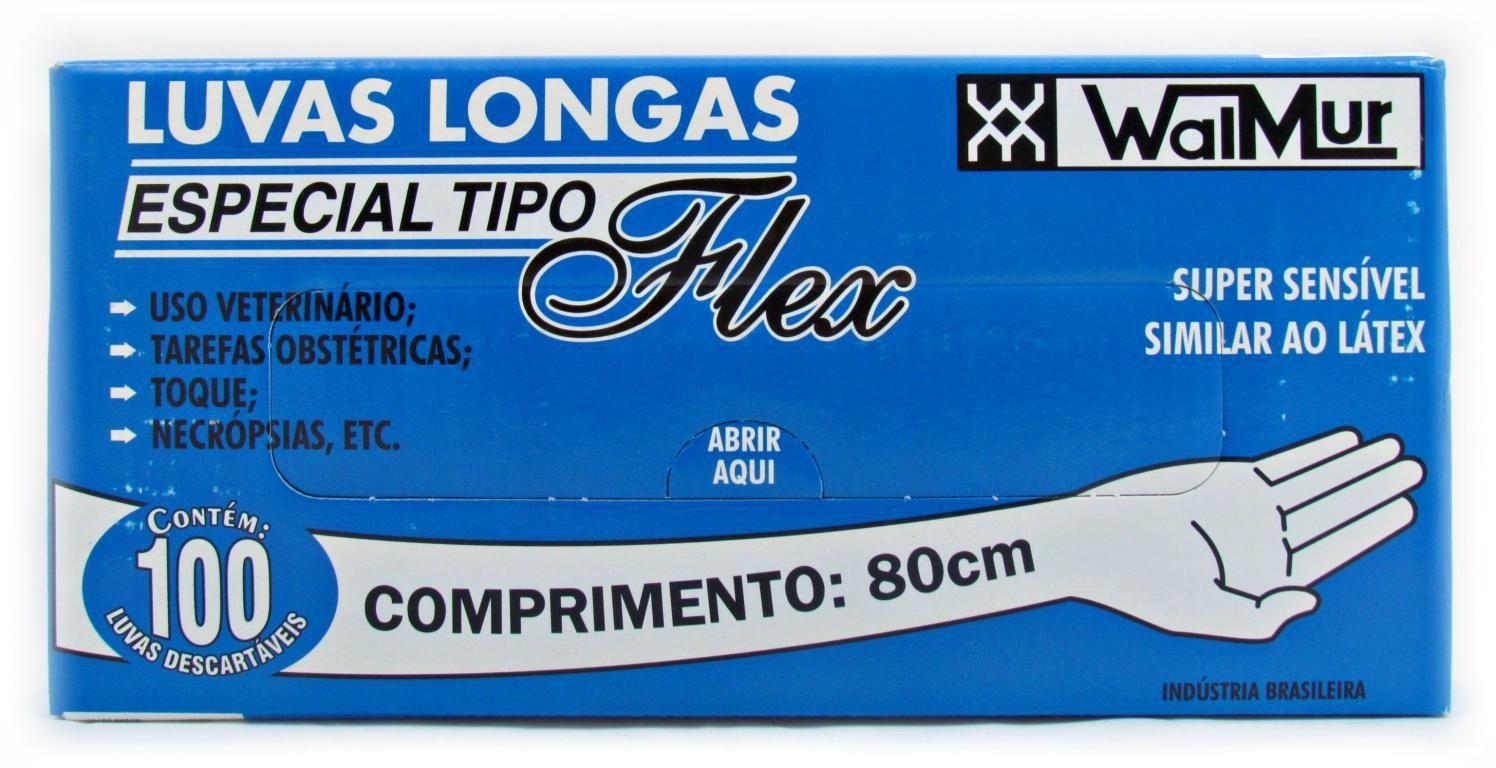 Luvas Longas tipo Flex - Caixa com 100