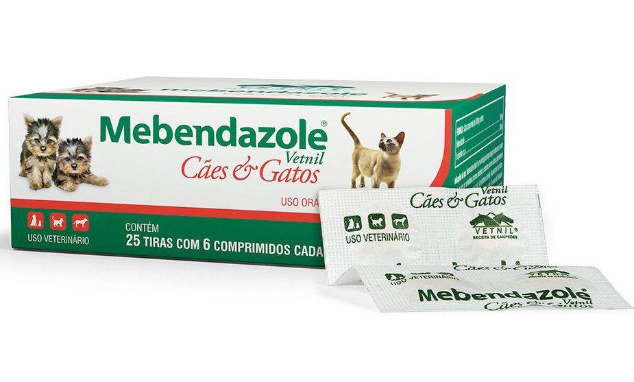 Mebendazole Cães e Gatos - 6 comp.