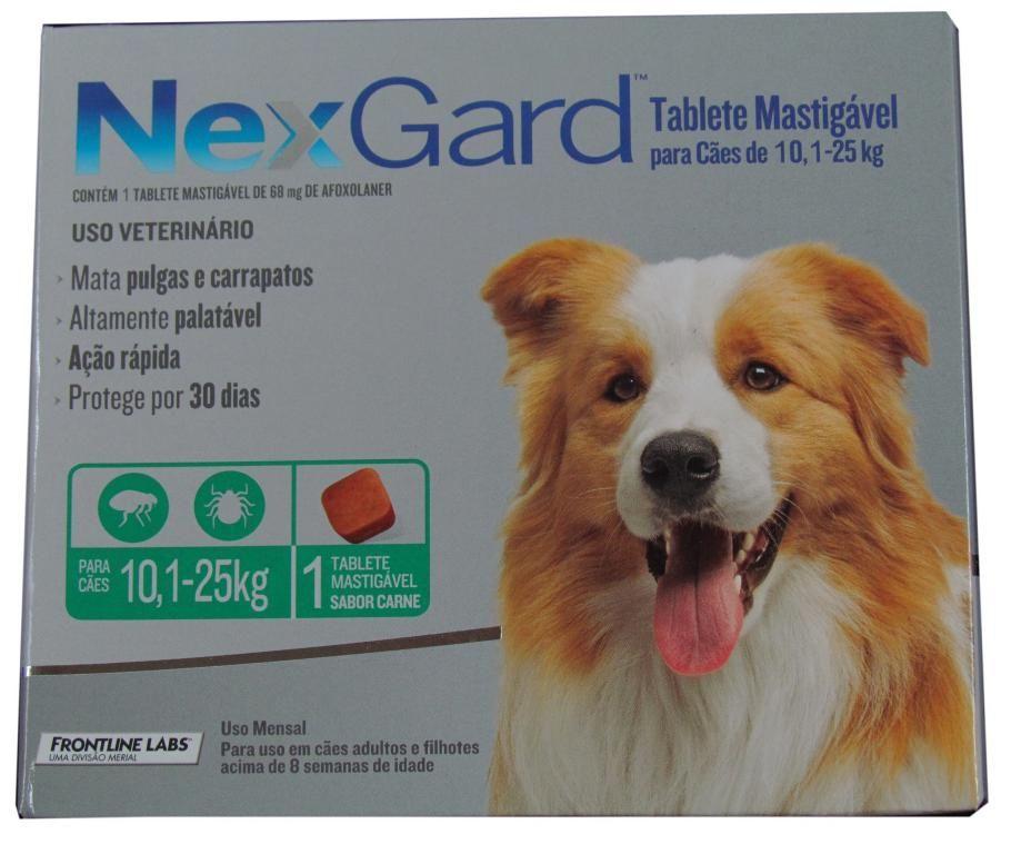 Nexgard para cães 10 a 25kg - 1 Tablete Mastigável