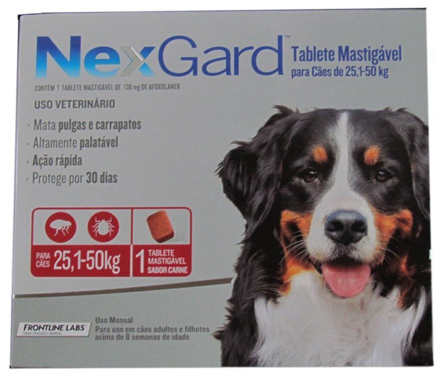 Nexgard para Cães 25 a 50kg - 1 Tablete Mastigável