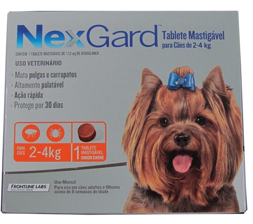 Nexgard para cães 2 a 4kg - 1 Tablete Mastigável