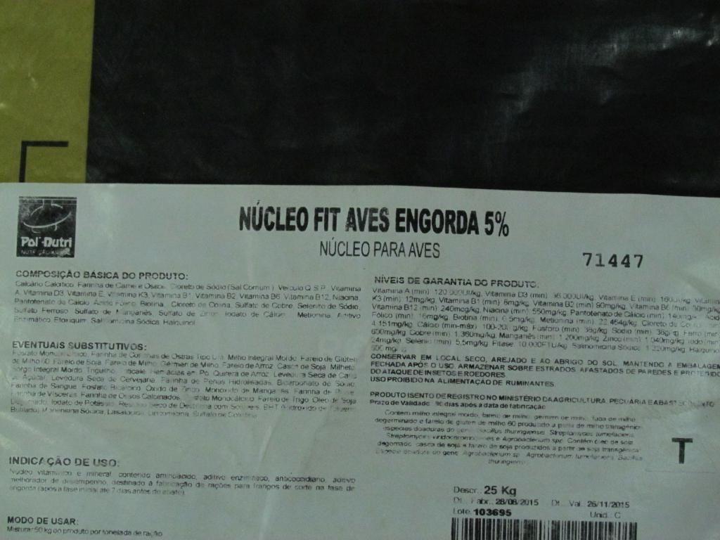 Nucleo Fit Aves Engorda 5% - 25kg