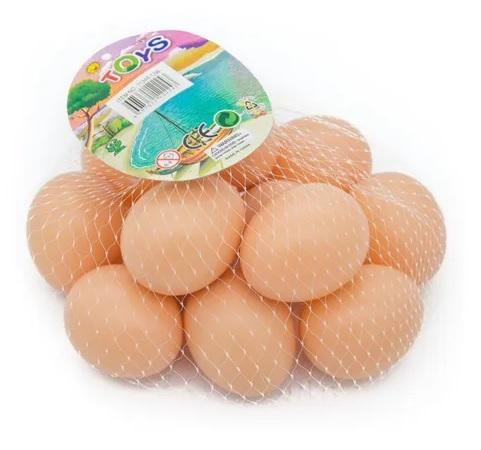 Ovo Falso de Galinha Oco - Pacote com 12 unidades