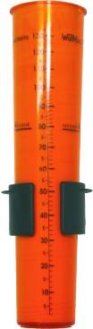 Pluviômetro em acrílico Escala 130mm âmbar