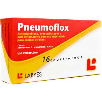 Pneumoflox Antibiótico e antiinflamatório - 8 e 16 comprimidos
