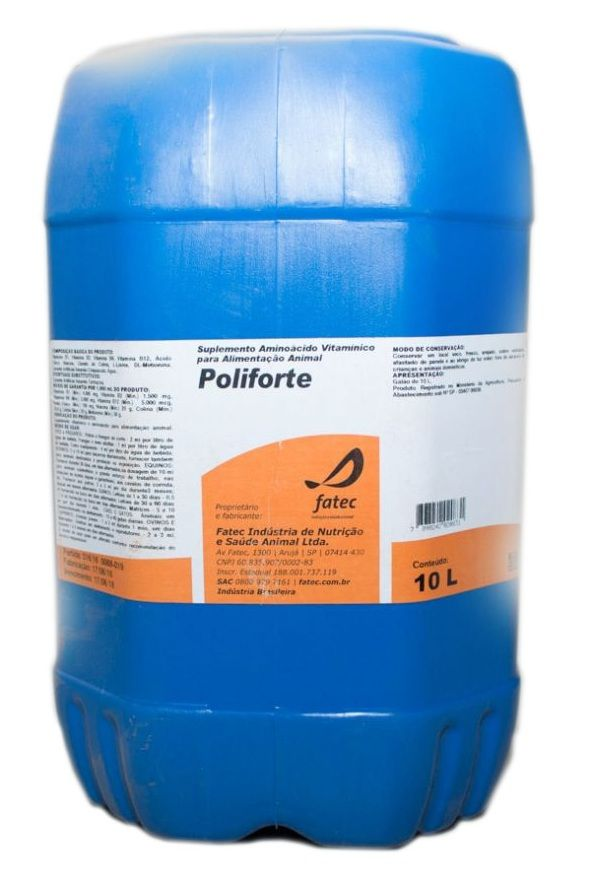 Poliforte 10 litros | Loja Agropecuária - AB Araujo