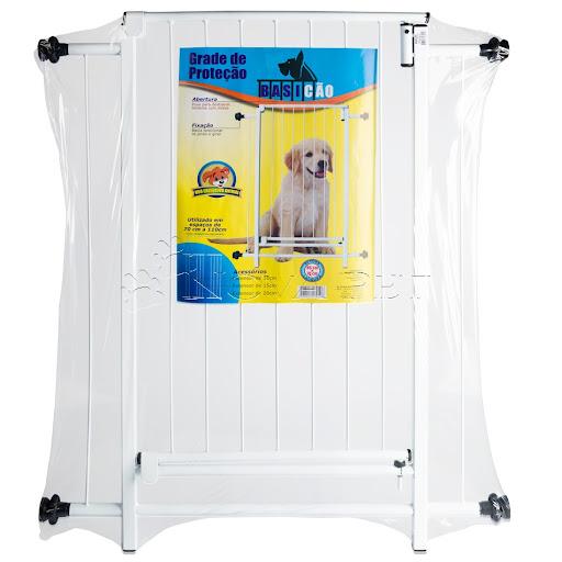 Portão Grade de Proteção para cachorros - 86x70cm com extensor de 10cm