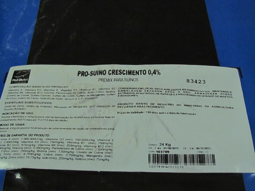 Pro-Suino Engorda 0,4% - 24kg