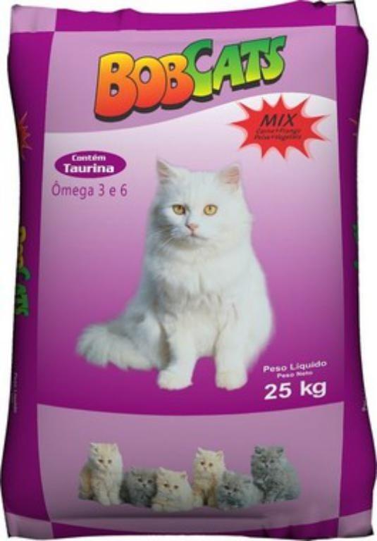 Ração BobCats Mix - 25kg