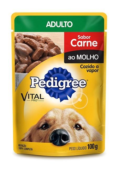 Sachê Pedigree Adulto sabor Carne ao Molho - 100g
