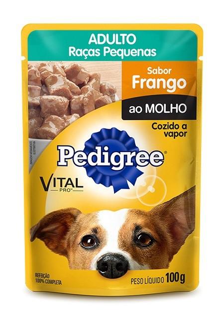 Sachê Pedigree Raças Pequenas sabor frango - 100g