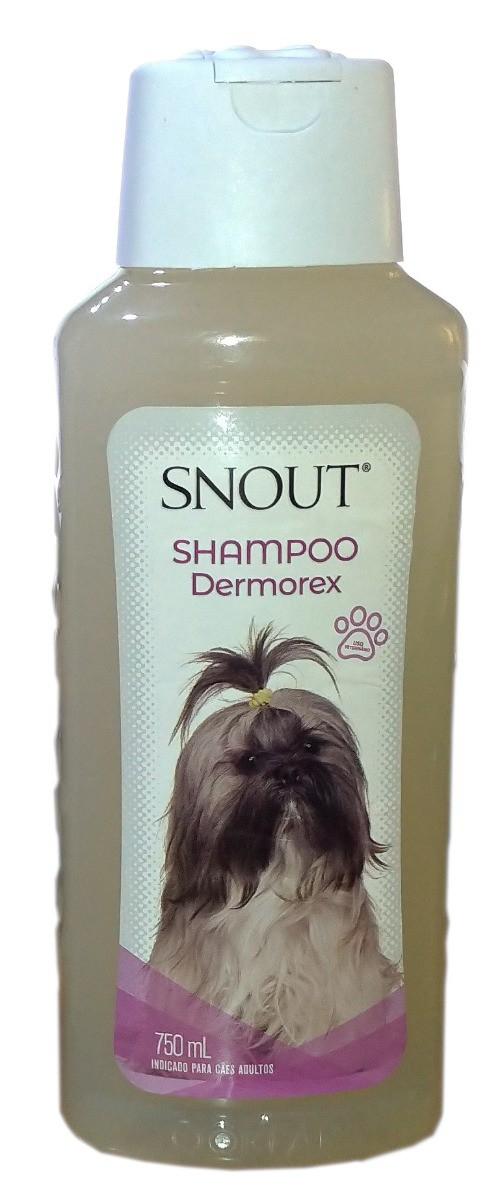 Shampoo e Condicionador Snout Dermorex para Cachorros Adultos - 750ml