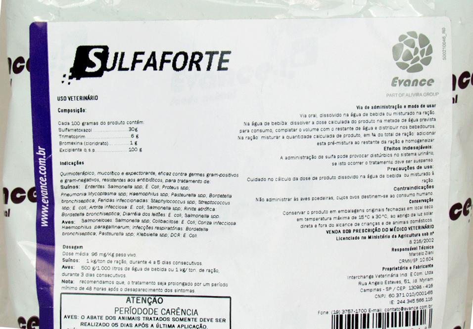 Sulfaforte - Evance - 500 gramas