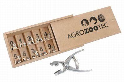 Tatuador em Aluminio com 5 jogos de números 0 a 9 - 8mm