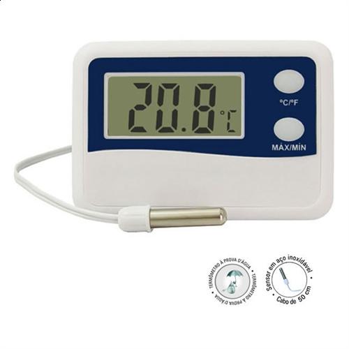Termômetro Digital Máxima e Mínima Refrigeração