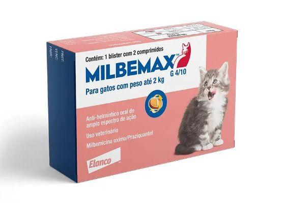 Vermifugo Milbemax para Gatos pequenos - até 2kg