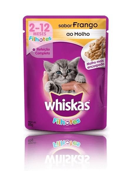Whiskas Sachê Filhotes Sabor Frango ao Molho - 85