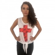 Blusa Off White de Amarrar de Cruz