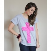 Camiseta Cruz Cinza