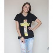 Camiseta Cruz Preta