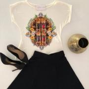 Kit Saia Midi Evasê e Blusa Nossa Senhora Aparecida - Encontro da Imagem