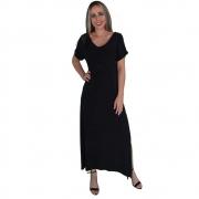 Vestido Longo Preto com Fendas