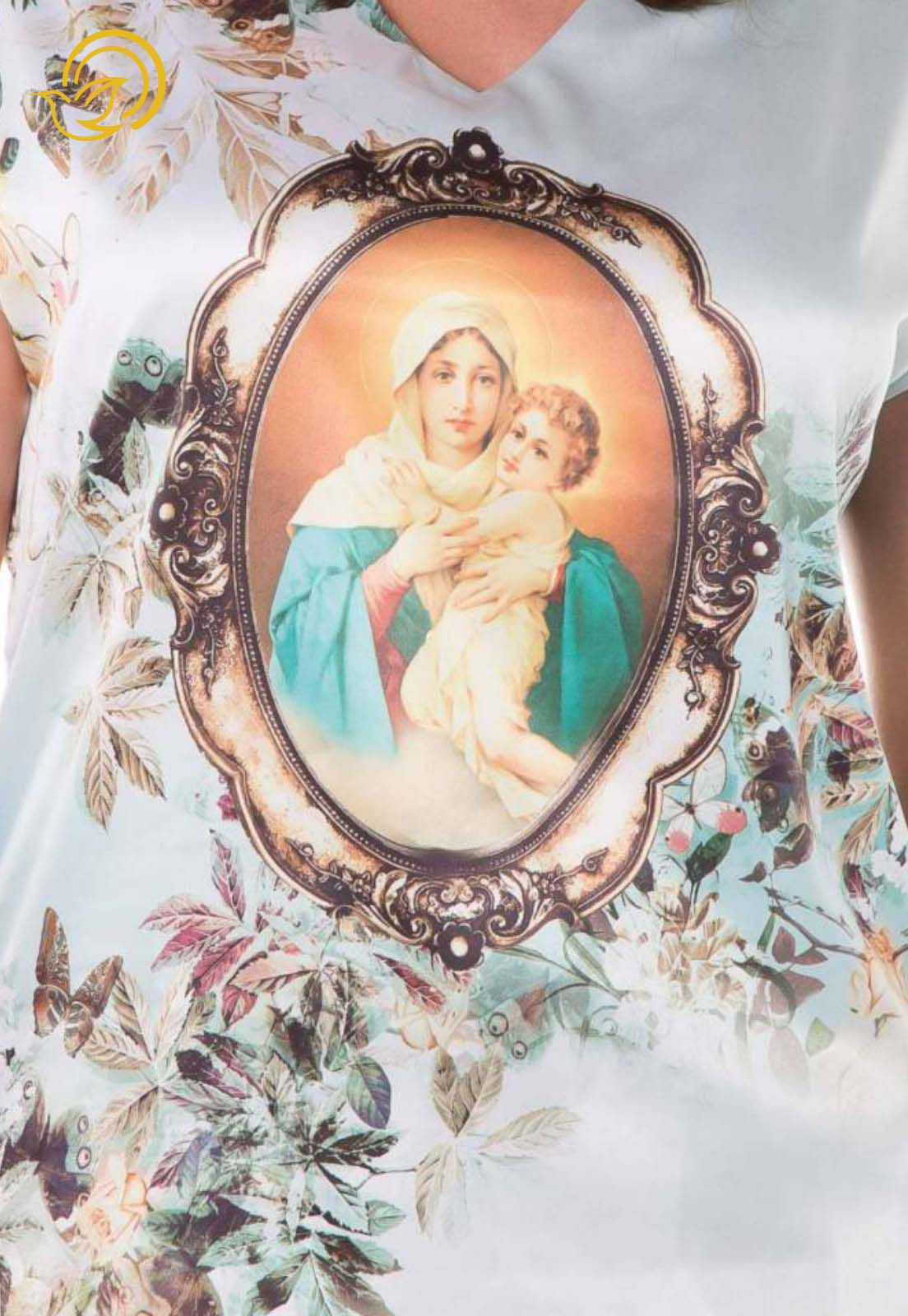 Blusa Mãe Rainha Floral
