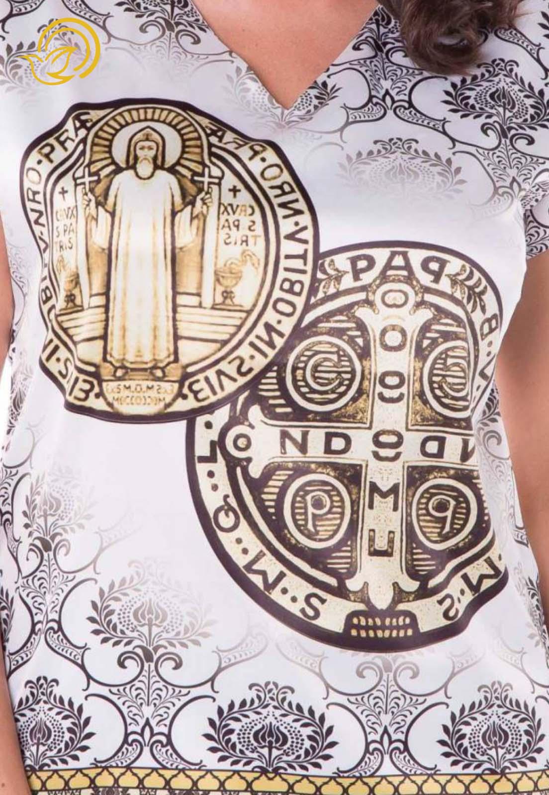 Blusa Medalha de São Bento