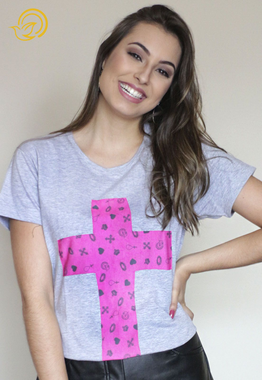 Camiseta Cruz Cinza
