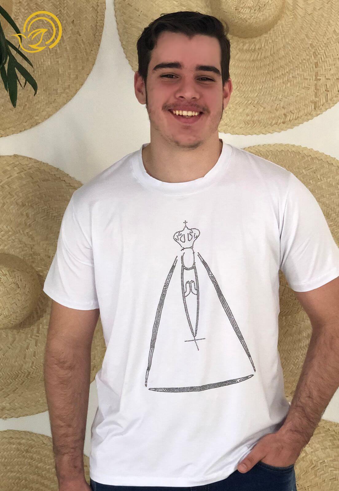 Camiseta Nossa Senhora Aparecida - Branca