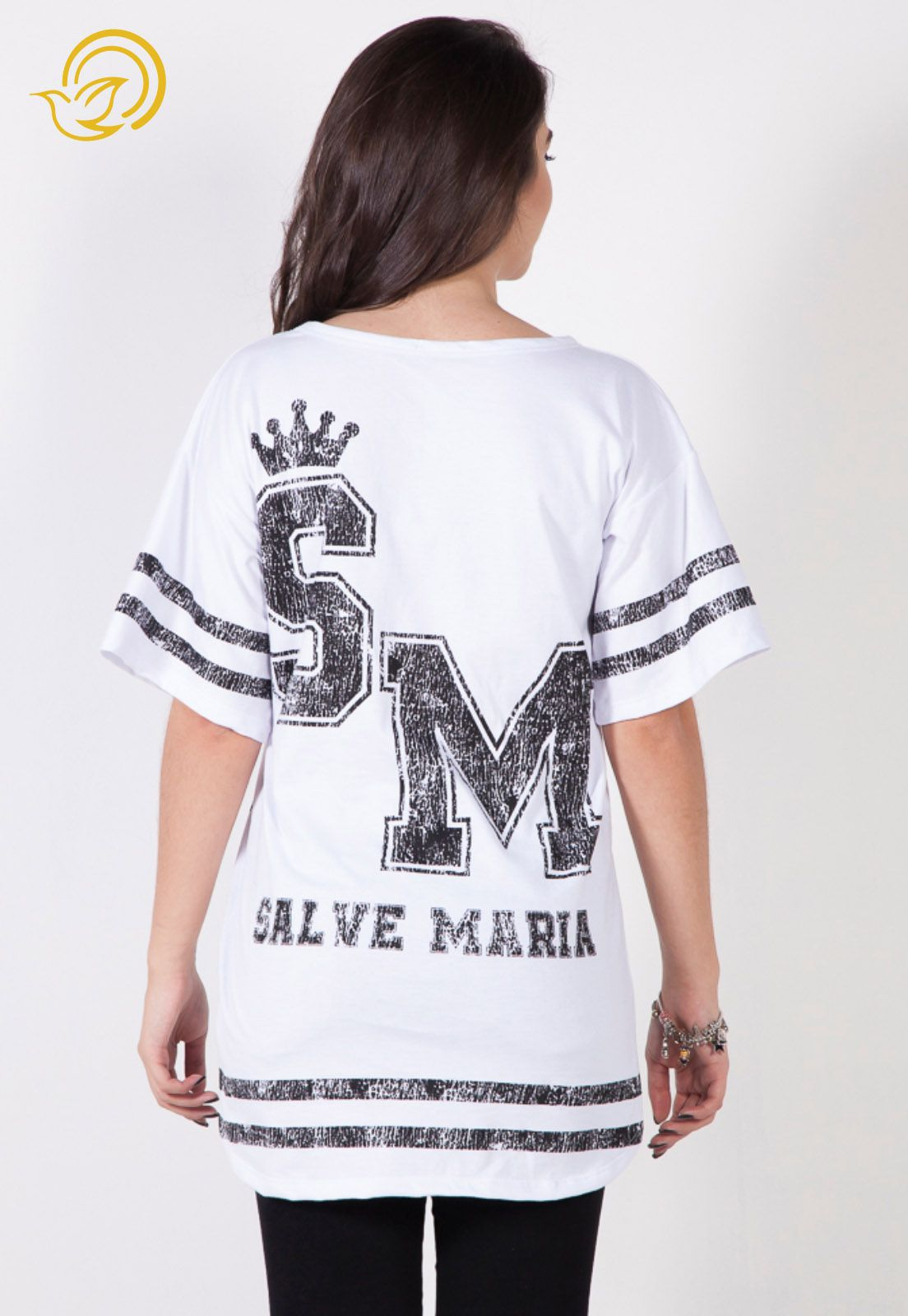 Camiseta Salve Maria - Branca