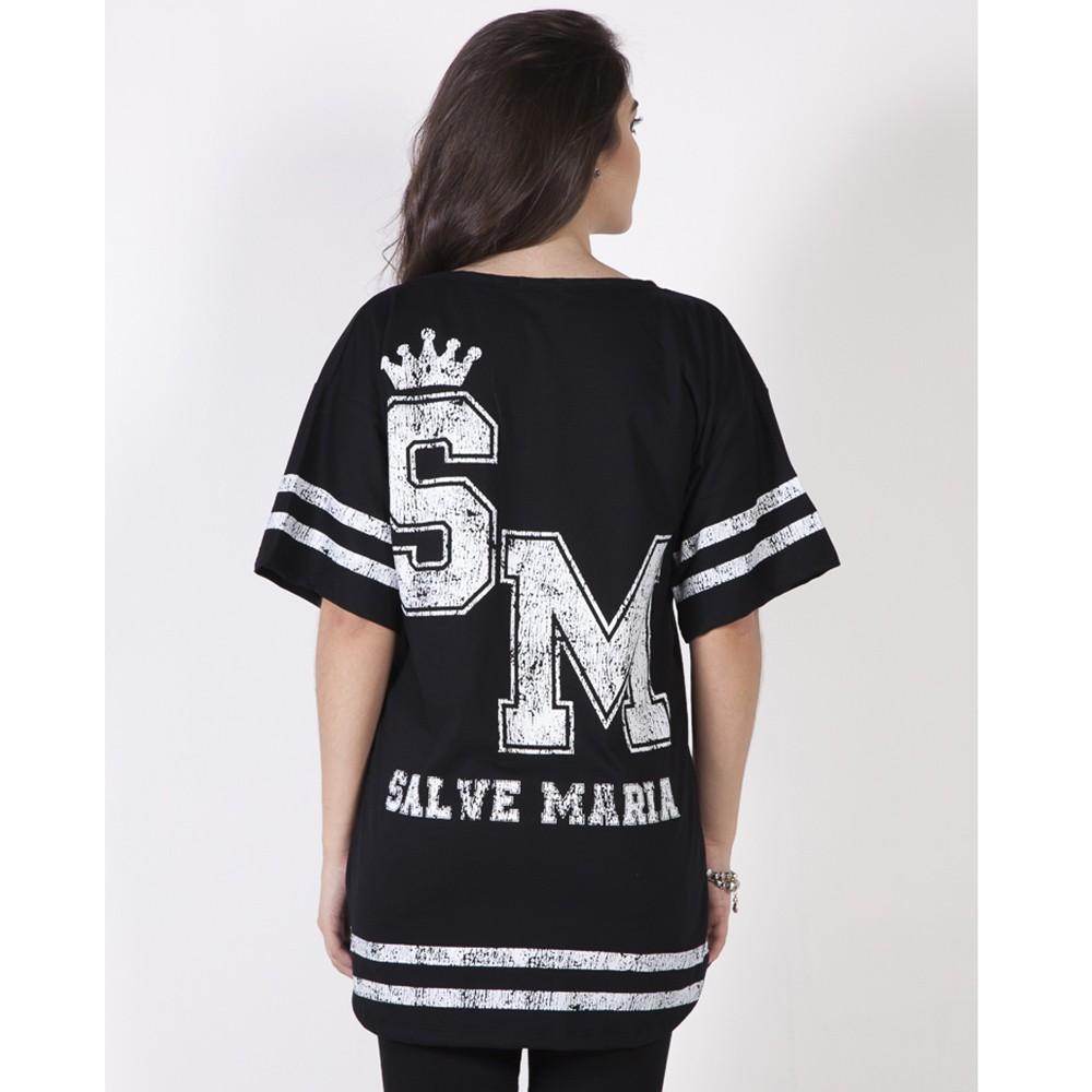 Camiseta Salve Maria - Preta