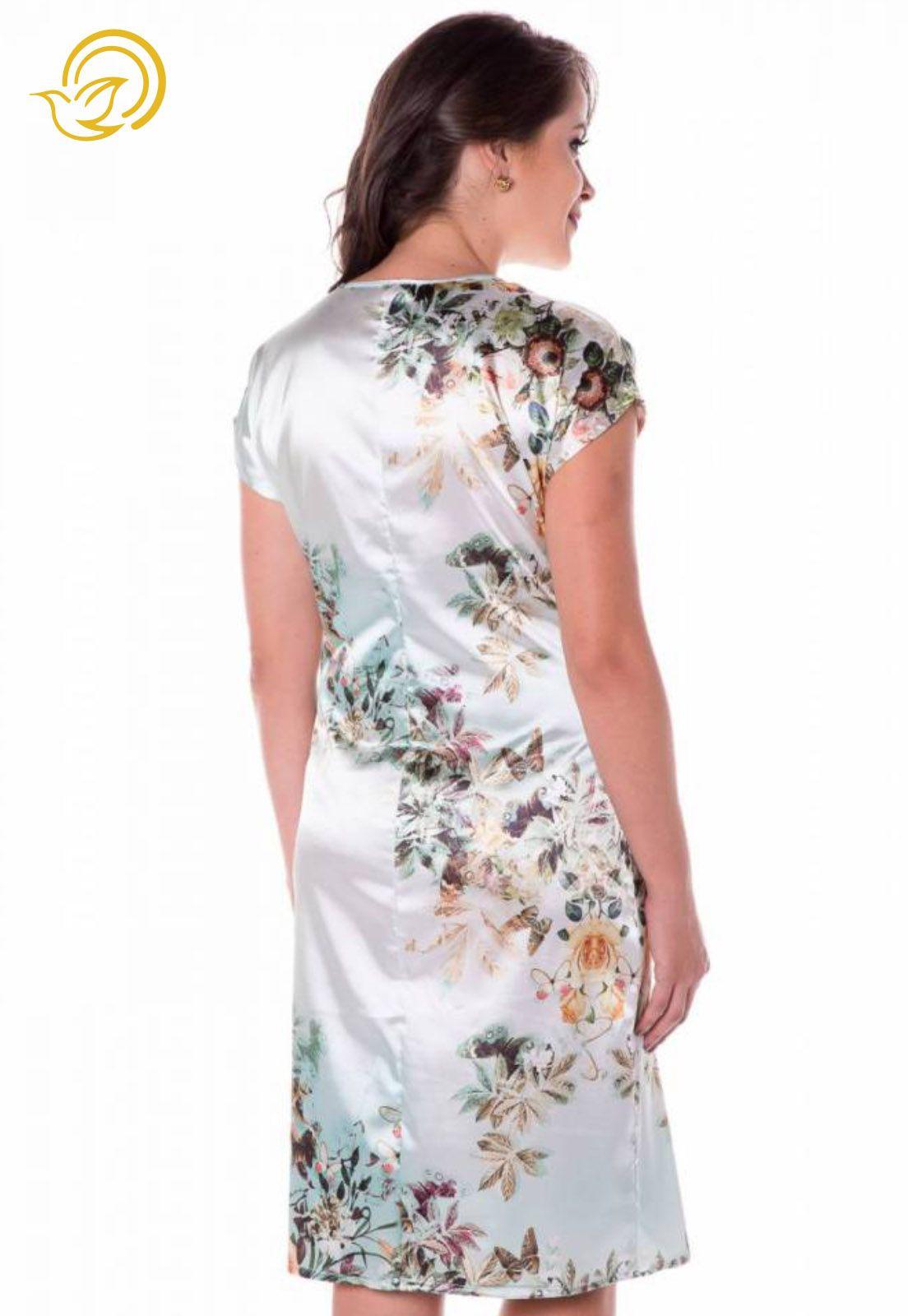 Vestido Mãe Rainha Floral