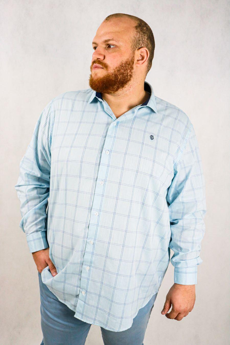 Camisa Obeland+ linhao xadrez coleção work