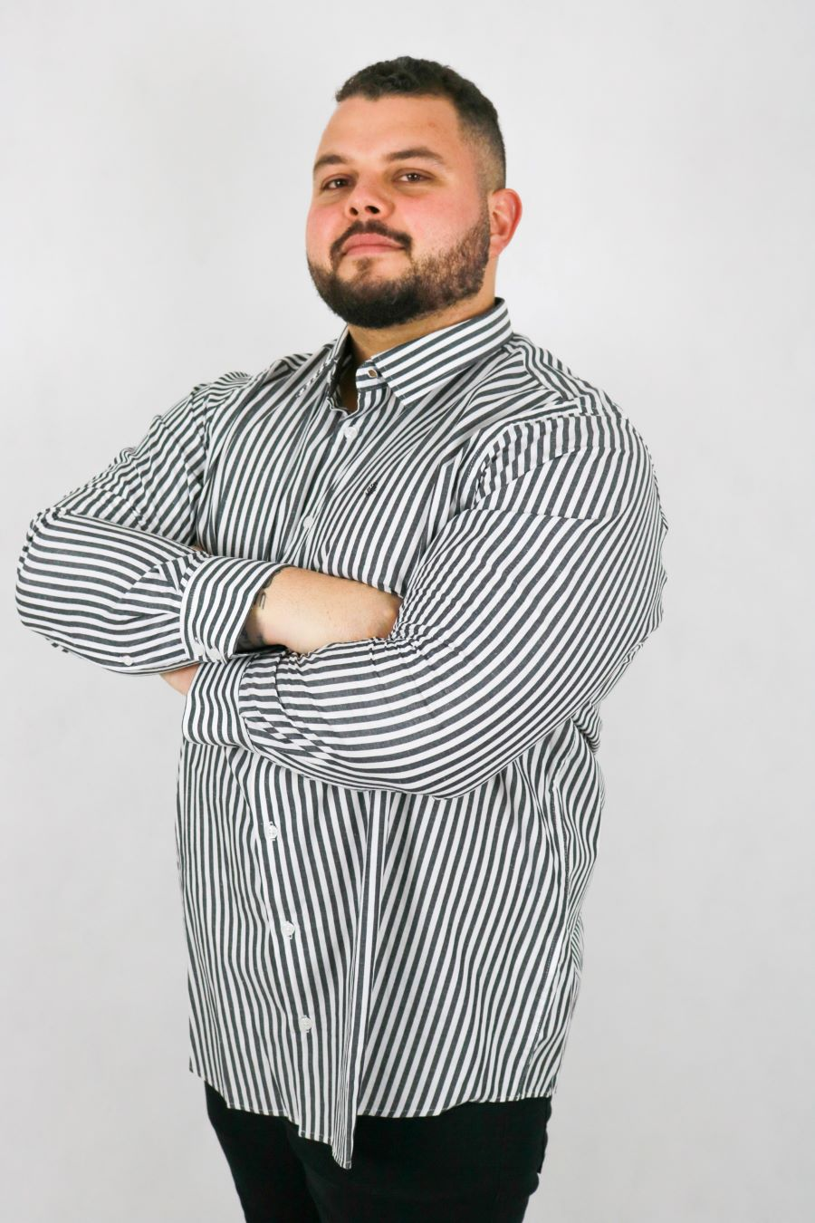 Camisa Obeland+ m/l listrada LE