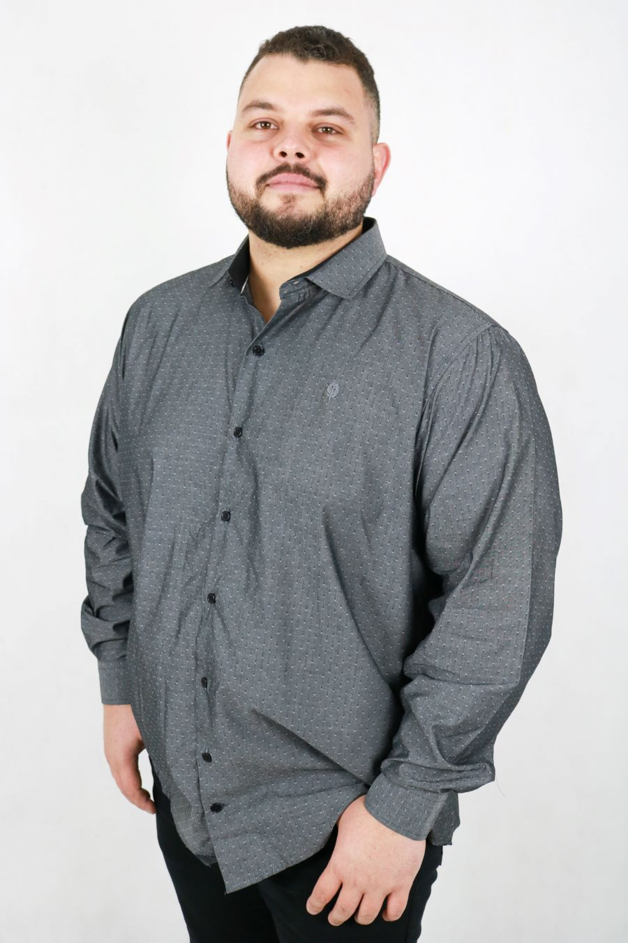 Camisa Obeland m/l maquinetada losango Plus