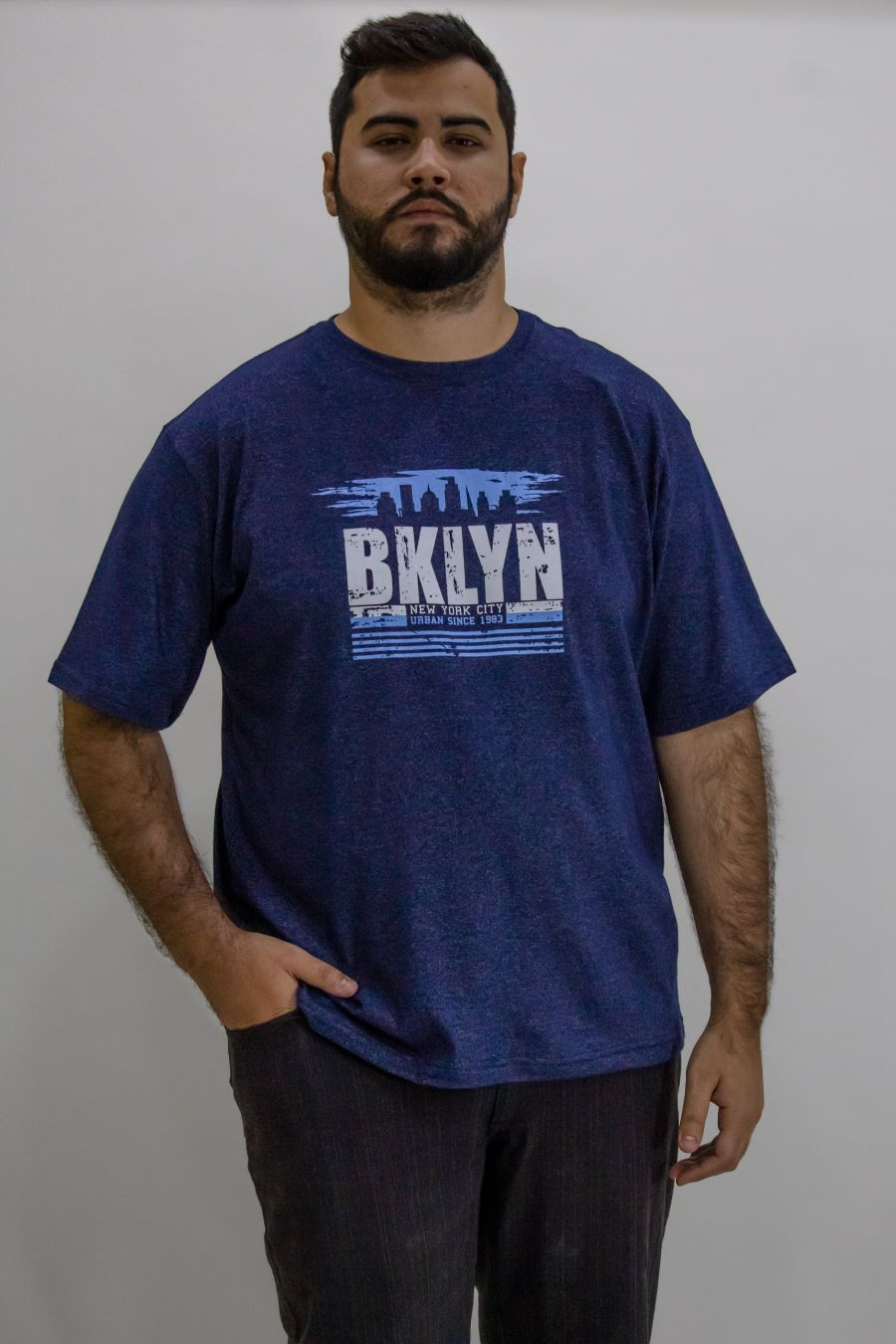 Camisa Obeland+ malha Brooklyn rev sensetion