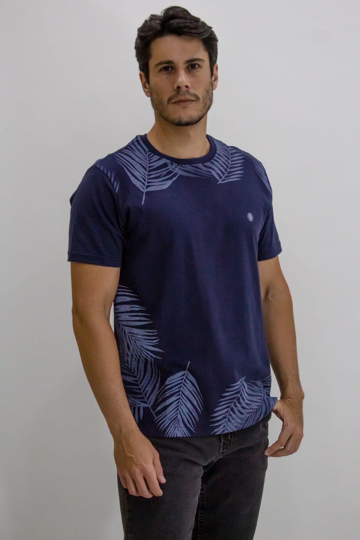 Camisa Obeland malha folhas Rev performance