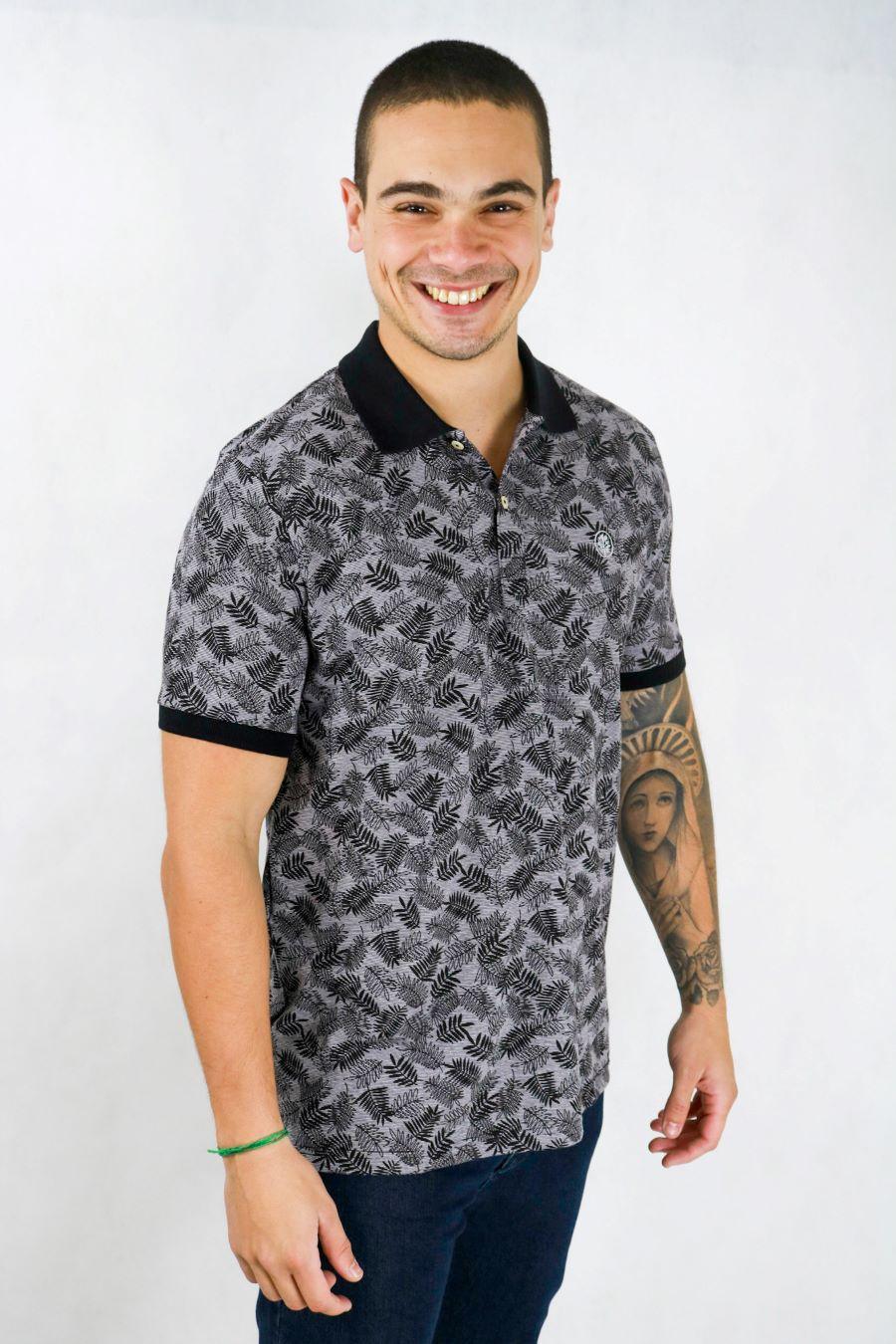 Camisa Obeland polo estampada coleção casual