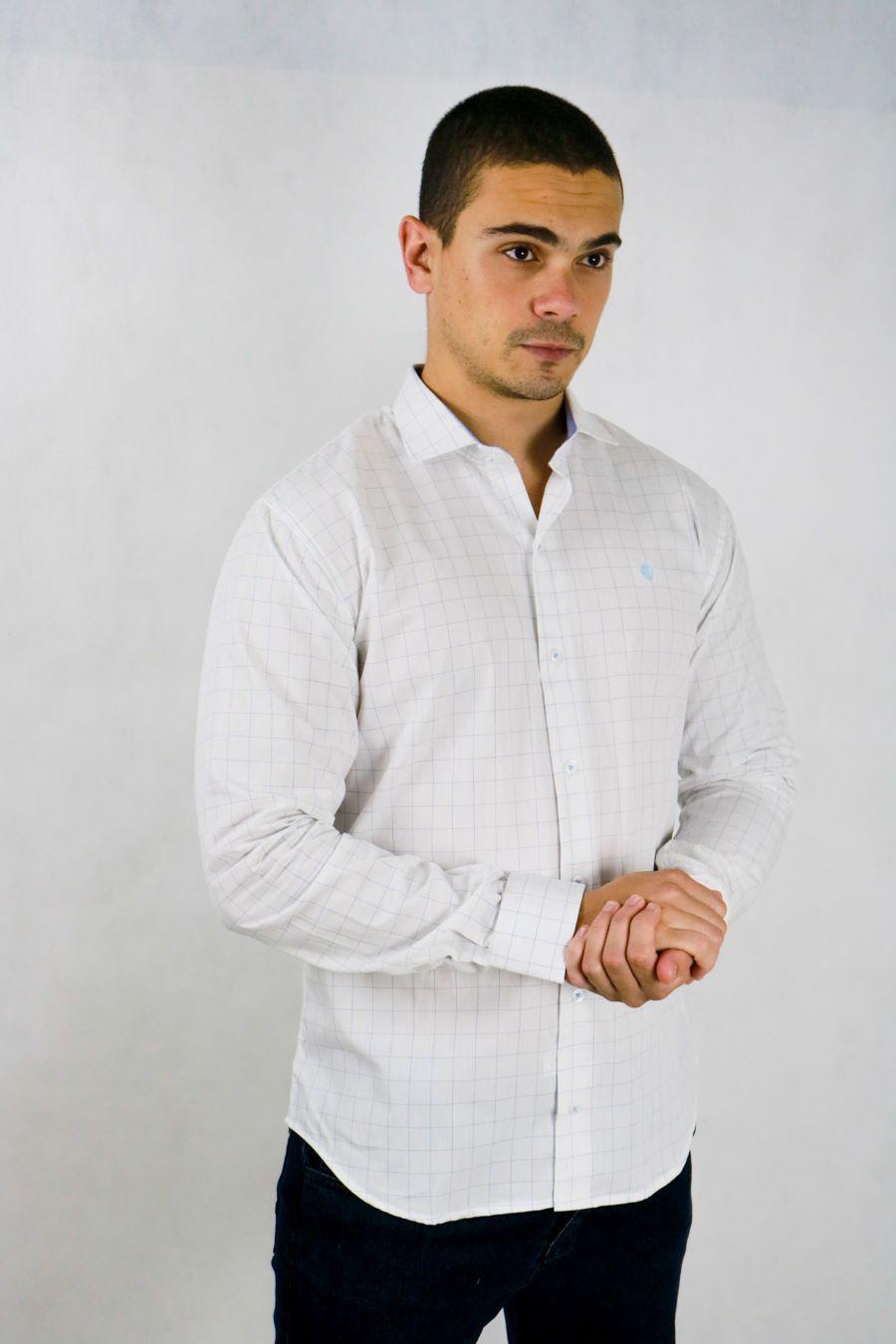 Camisa Obeland xadrez fino m/l coleção casual