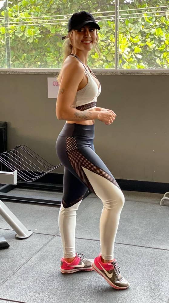 Legging Preto/Cinza com tela