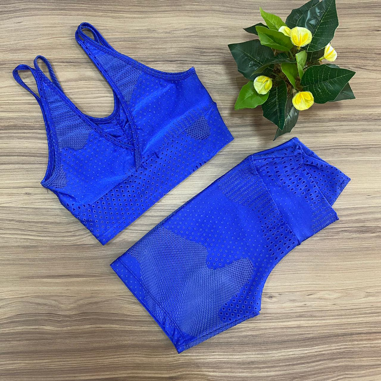 Conjunto Fitness Azul Royal