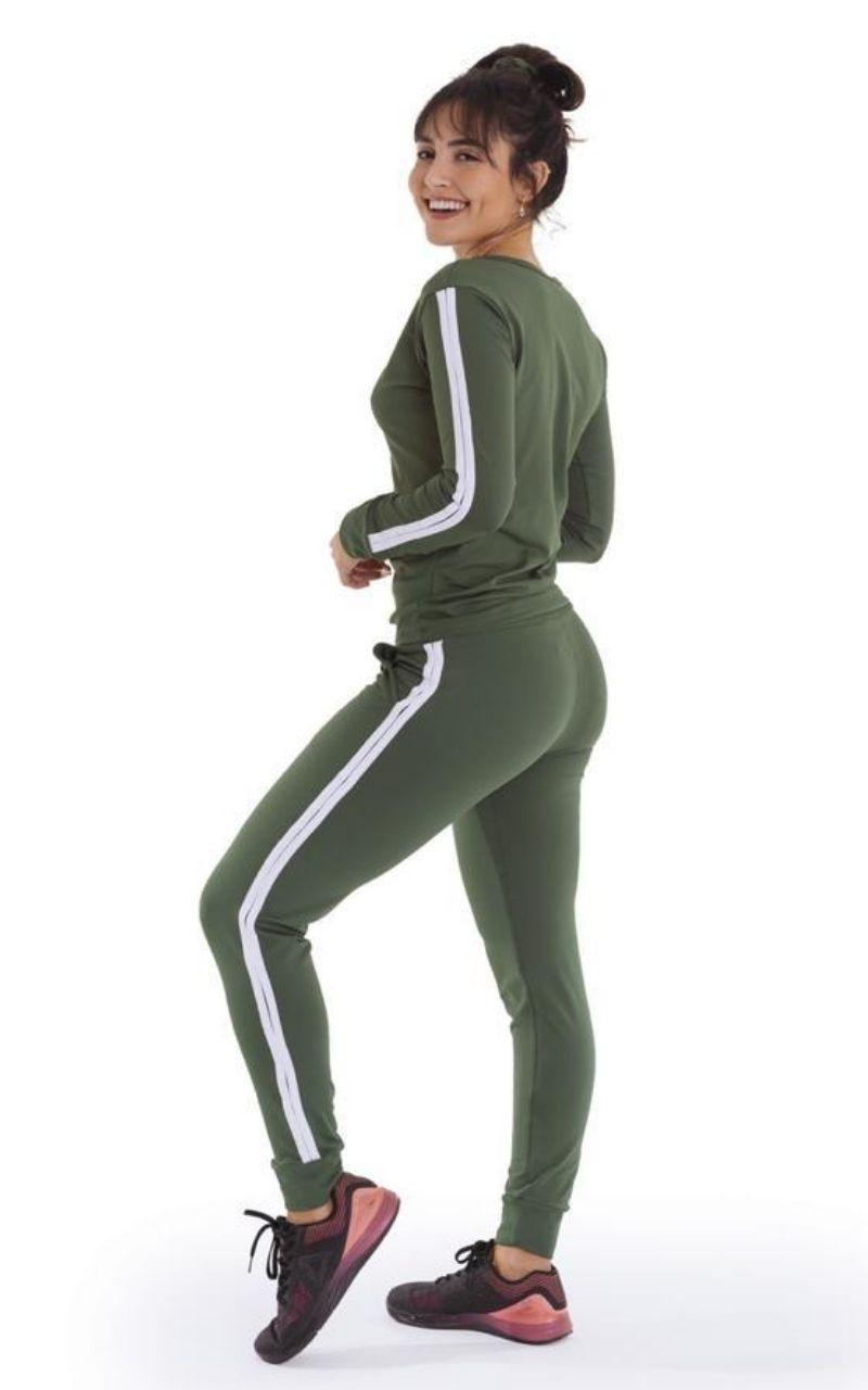 Conjunto Moletom Blusa e Calça Verde