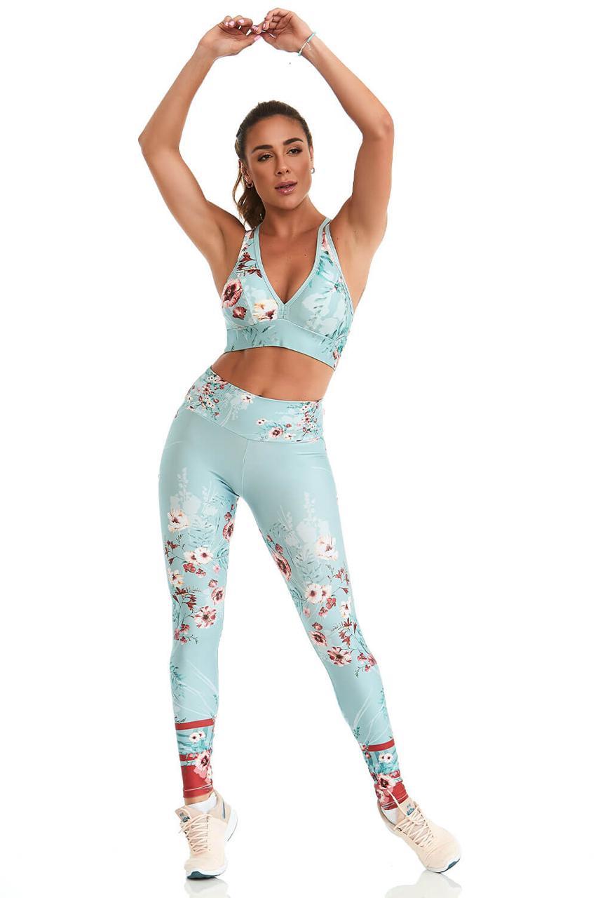 Conjunto Caju Print Royale Spring Azul