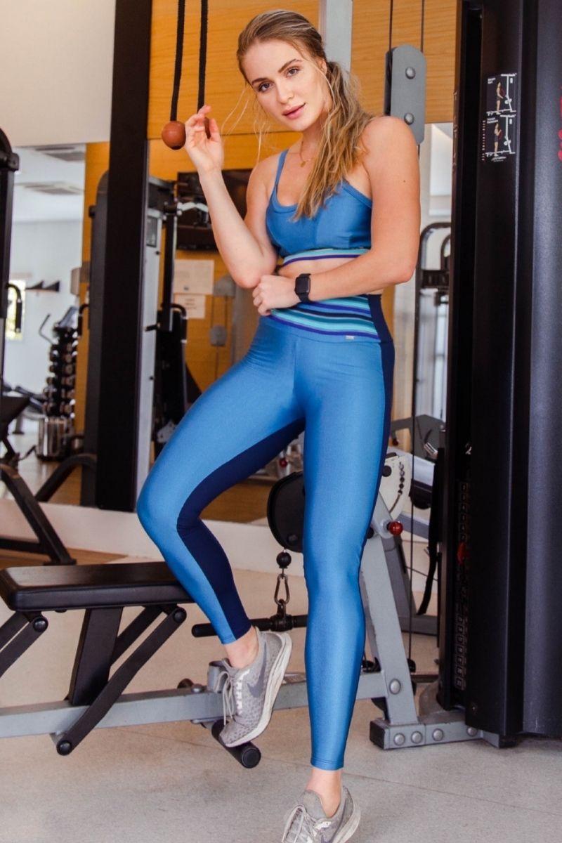 Conjunto Top e Legging Azul