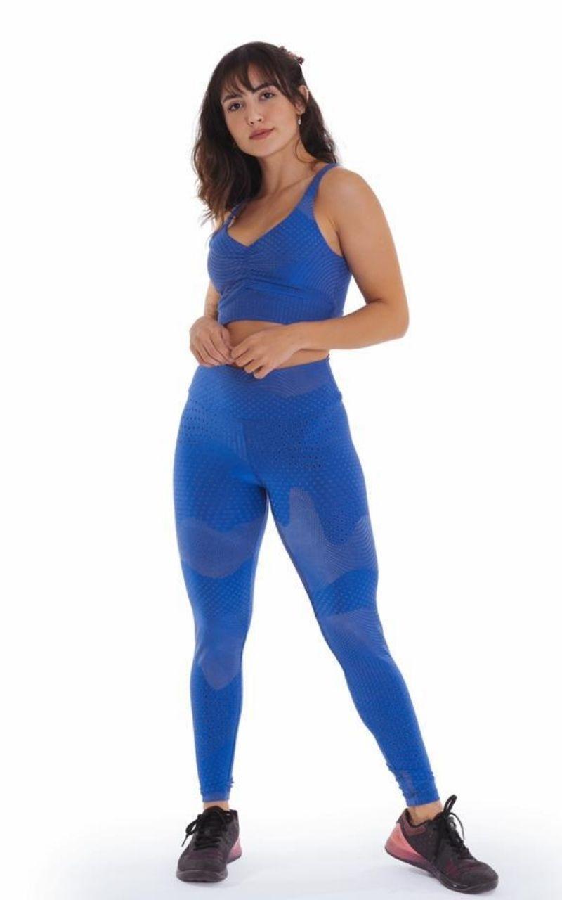 Conjunto Top e Legging Azul Royal - Top Basic
