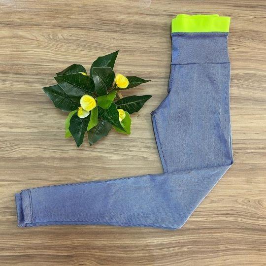 Legging Azul luxo c/ neon