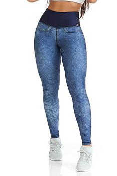 Legging Caju Double Face  Jeans Claro