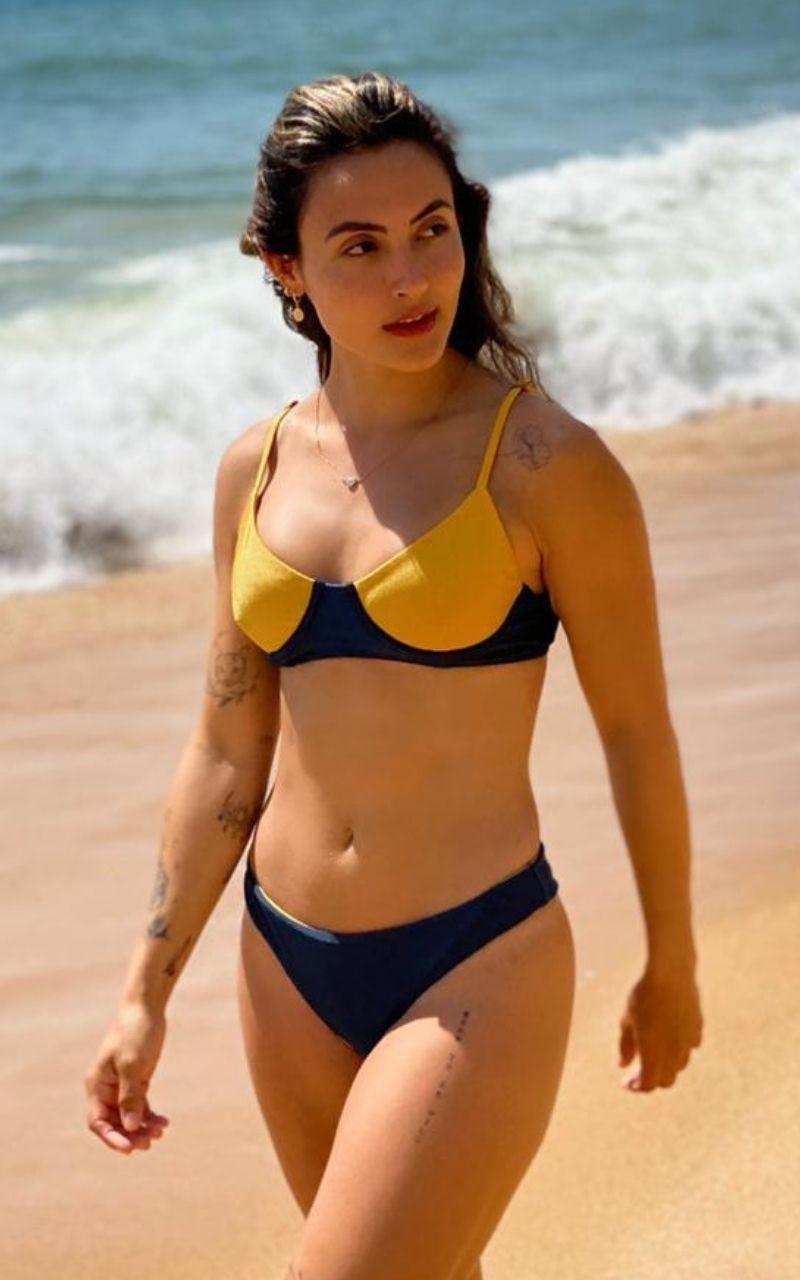 Malibu Meia Taça Azul e Amarelo
