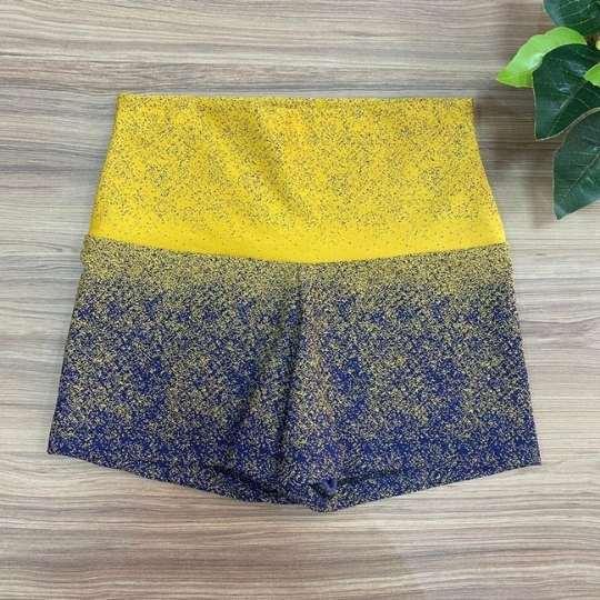 Short  Jacquard Amarelo e Azul